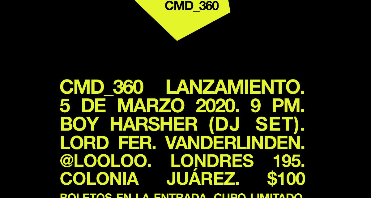 Fiesta de CMD_360 con un DJset de Boy Harsher