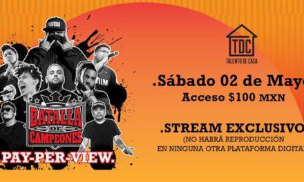 «Batalla de Campeones» un pay per view de hip hop