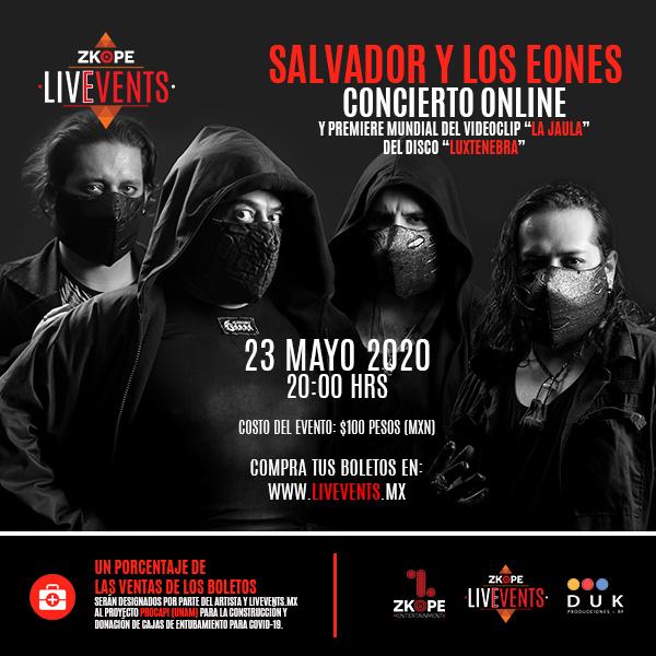 Salvador y Los Eones dará concierto altruista