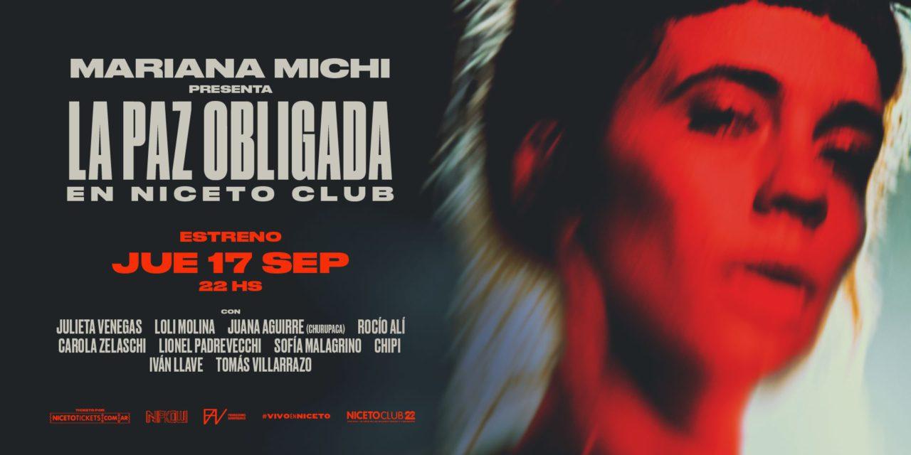 Mariana Michi presentará nuevas canciones en live streaming