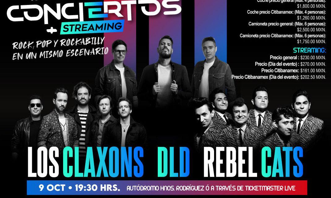Rock, pop y rockabilly en un mismo escenario con DLD,  Los Claxons y Rebel Cats
