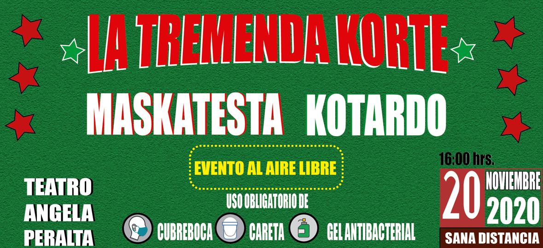 La Tremenda Korte dará concierto al aire libre en el Teatro Ángela Peralta
